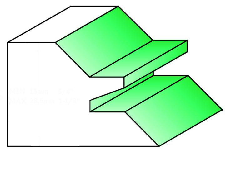 Frese HW a giunzione a 90° - esempio fresata