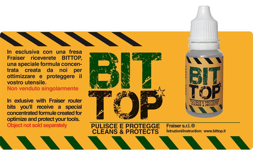 BITTOP - Speciale e unica formula di Fraiser per mantenere la tua fresa sempre liscia e senza ruggine