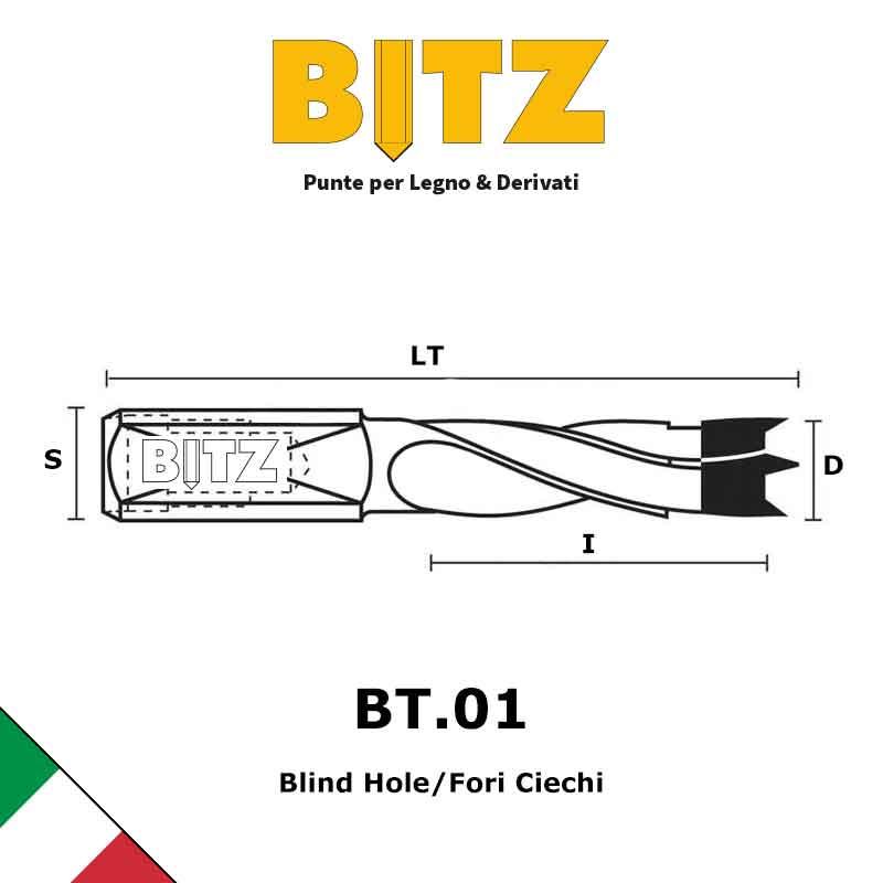 Dowel Drills Bits 4 FLUTE | BITZ