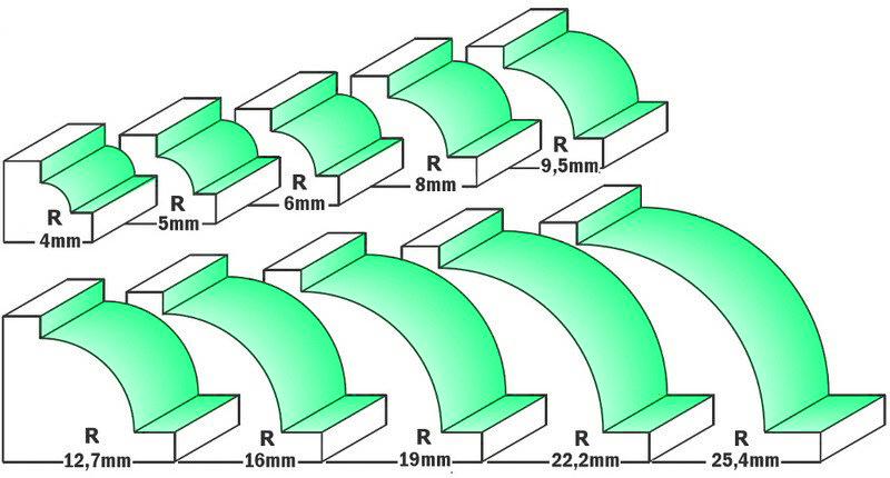 Fresa HW raggio concavo con cuscinetto - esempio fresata