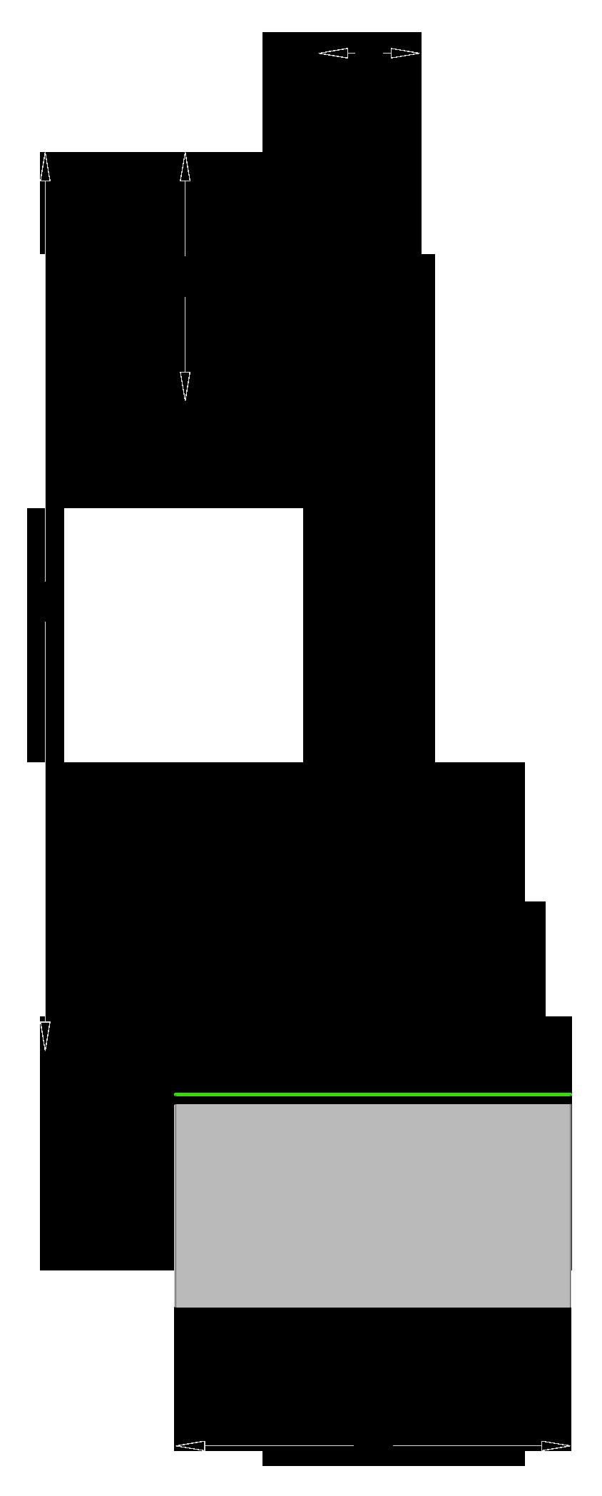 per trapano tipo Forstner - Tagliente standard - disegno tecnico