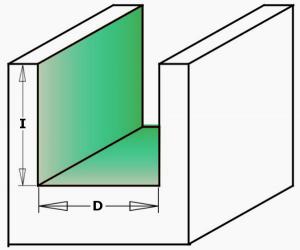 Fraiser FR.109 - Straight router bit for mortise with chip breaker - Left - example milling