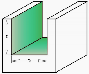 PKD Diamond router cutters with 45° shear angle - milling example