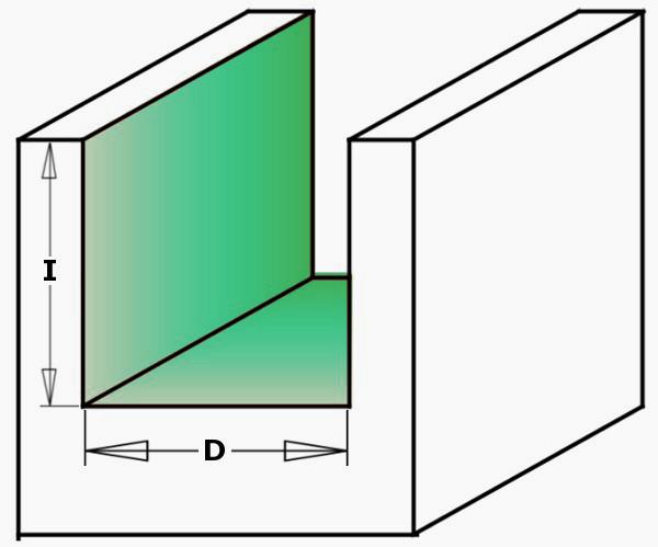 Fraiser FR.103 - Fresa a taglienti dritti per canali HW - serie lunga - dimostrazione 3