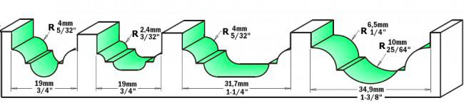 Fresa profilata HW - esempio di fresata