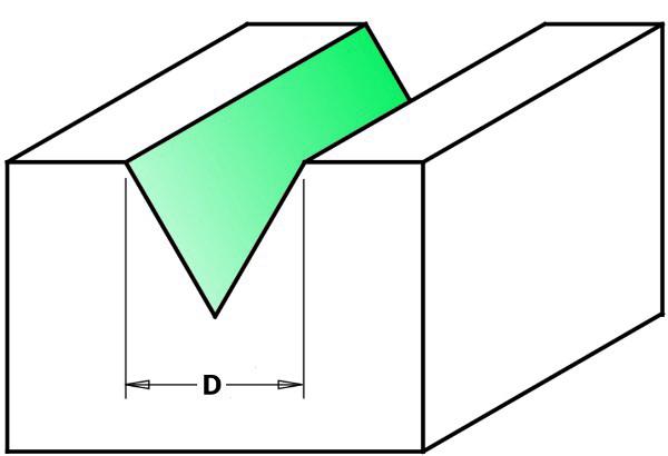 Fresa HW per lettere (60°) - esempio fresata