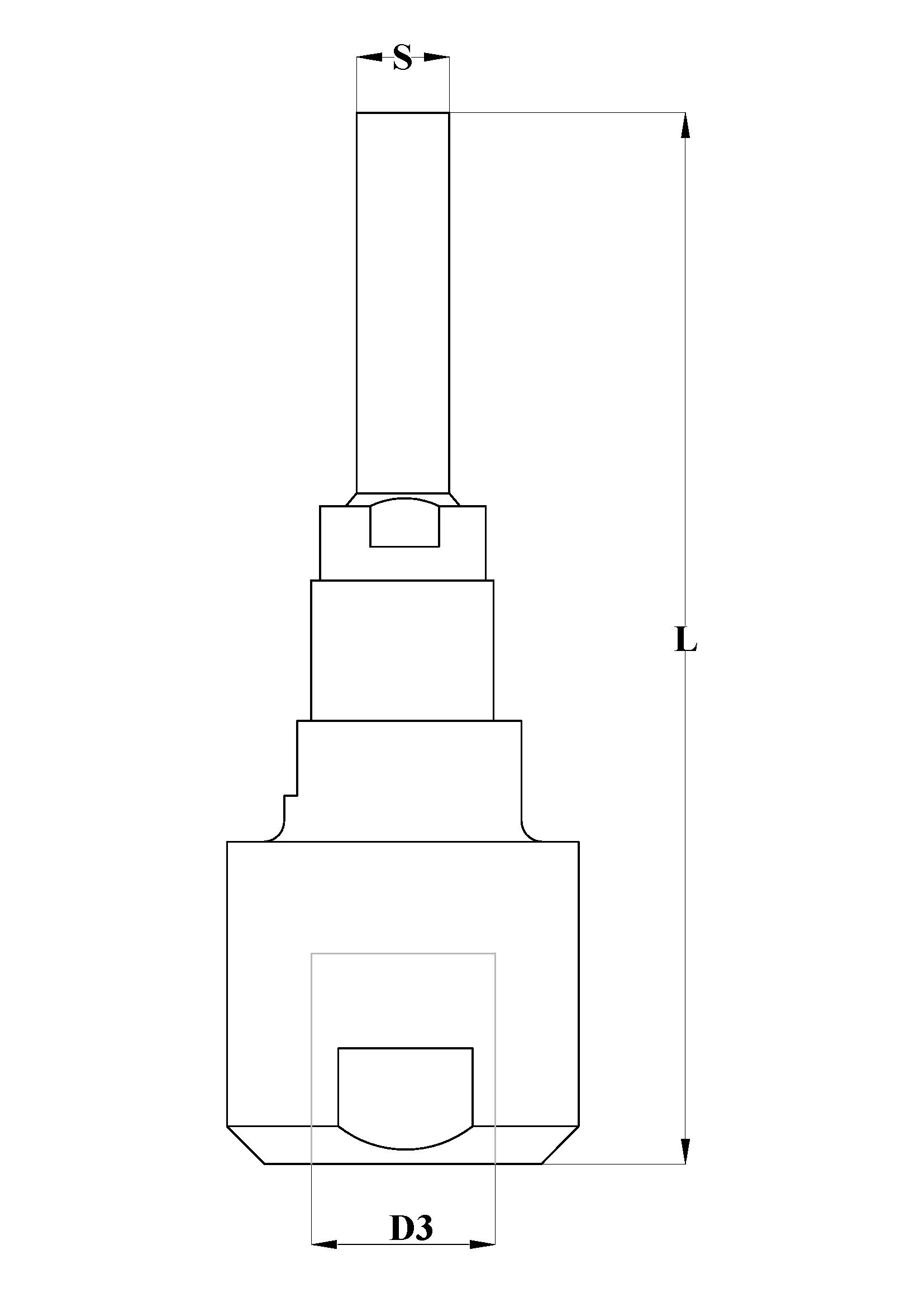 Disegno tecnico mandrino