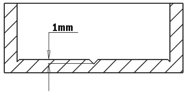 Fresa per trapano a colonna in metallo duro HW - Serie corta - esempio fresata