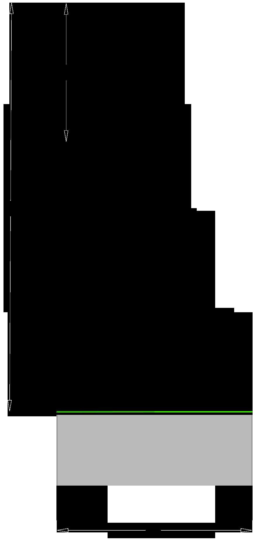 Fresa in PKD diamante per cerniere Z=2 - disegno tecnico
