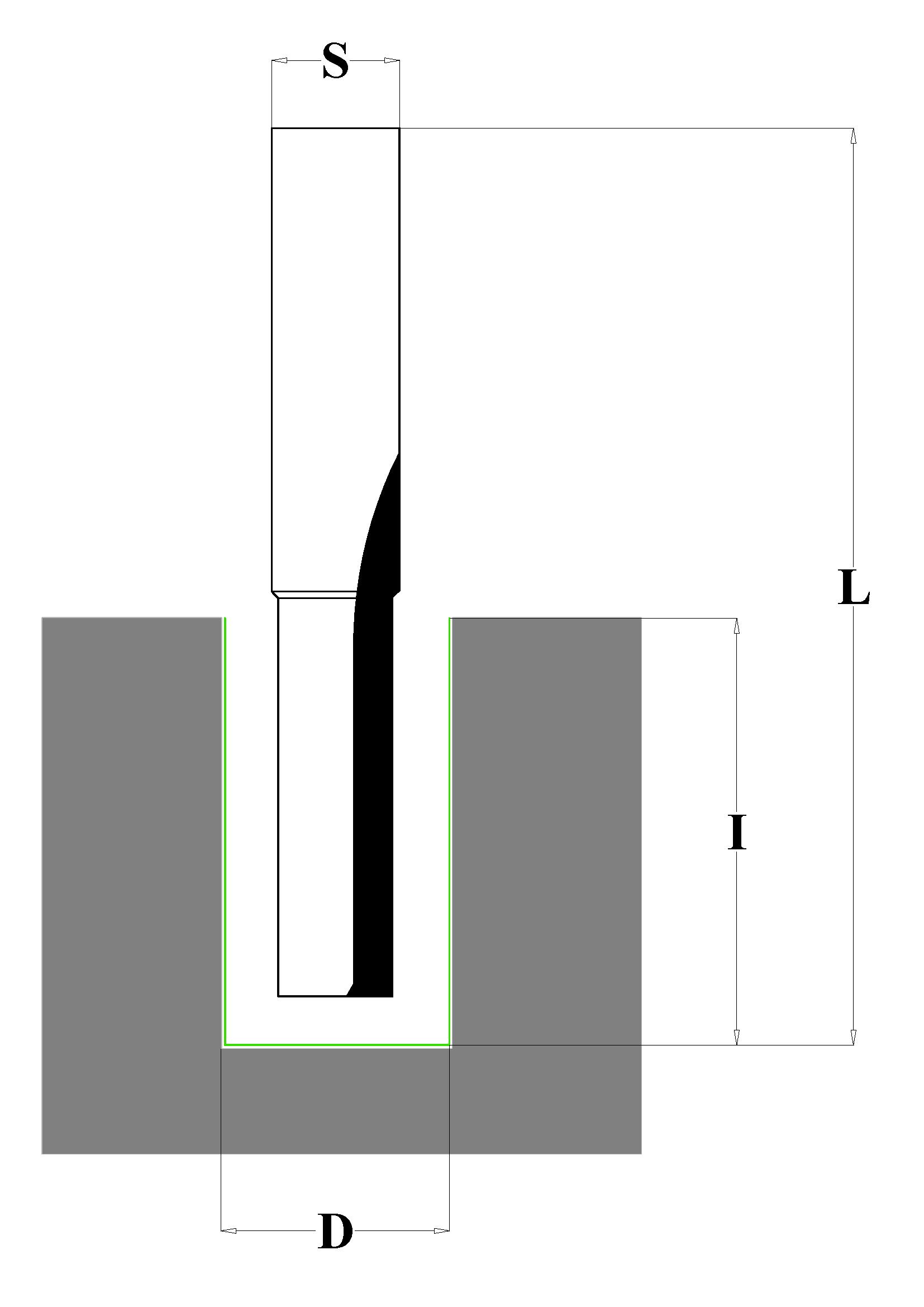 Fraiser FR.103 - Fresa a taglienti dritti per canali HW - serie lunga - scheda tecnica