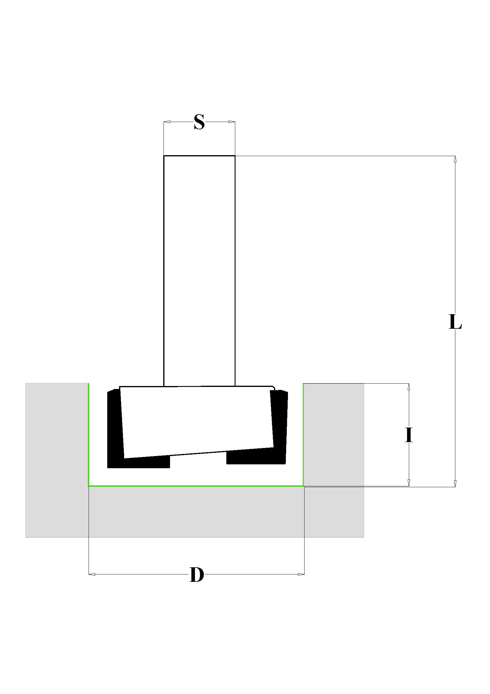 Fraiser FR.104 - Fresa per mortasare HW - disegno tecnico