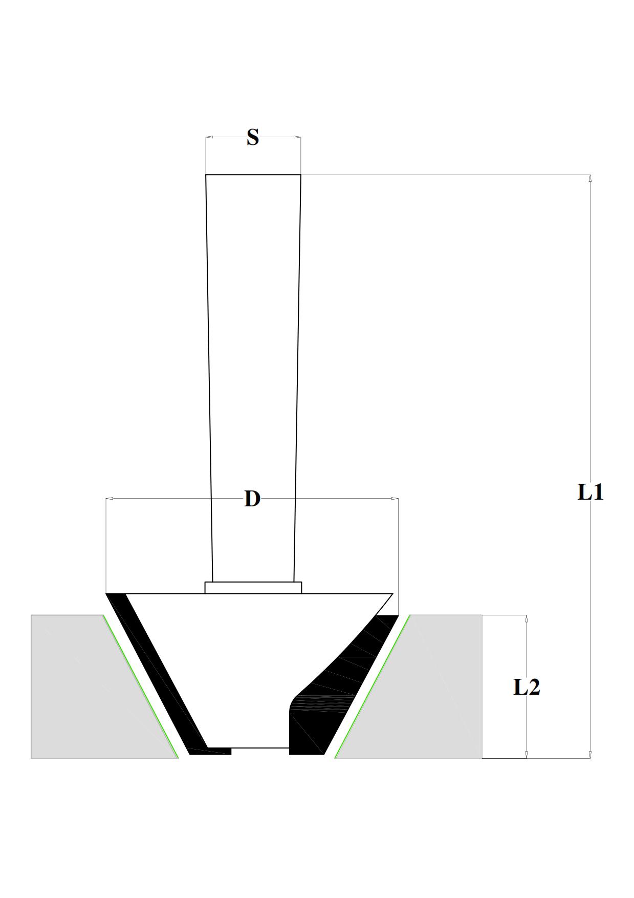 Fraiser FR.303 - Chamfer router bits HW - technical design