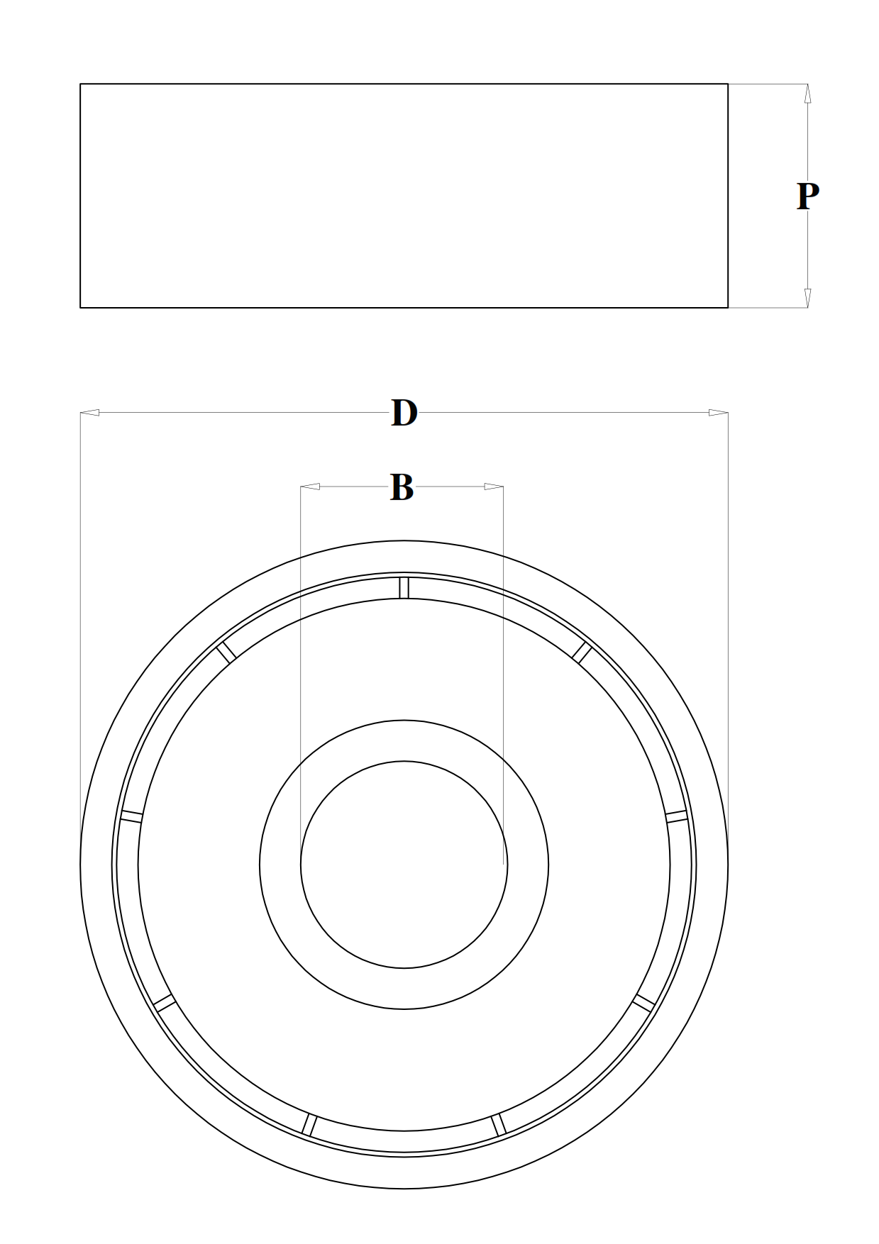 Delrin® cylindrical bearings - technical design