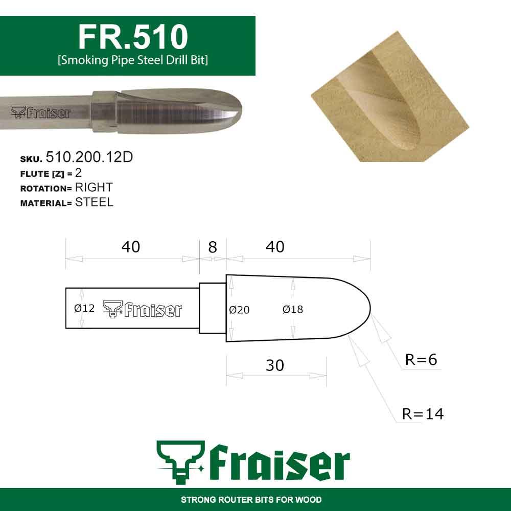 Fraiser FR.302 - Fresa a taglienti elicoidali positivi z=2