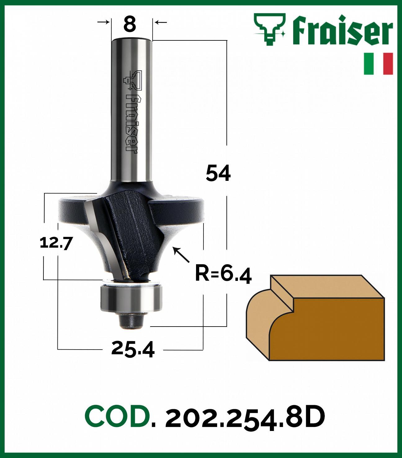 Fresa-raggio-concavo-CUSCINETTO-Z-2-Frese-x-legno-HW-per-fresatrice-verticale