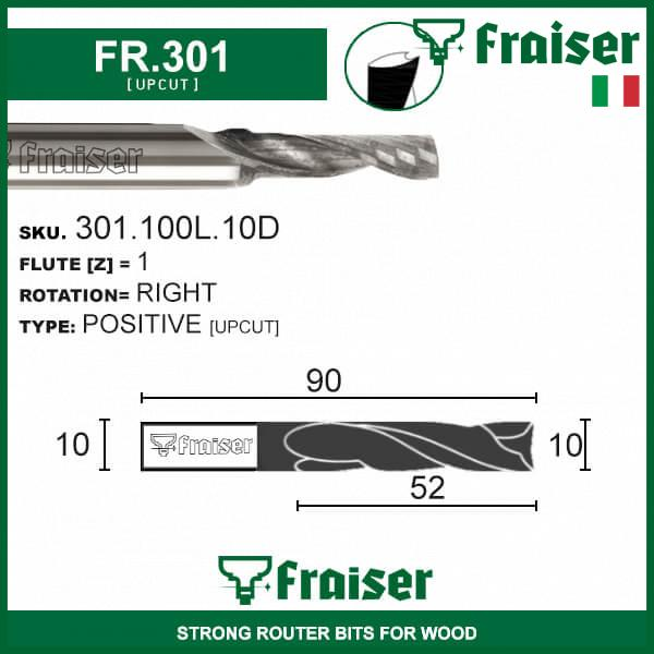 CNC-Router-Bits-Single-Flute-for-Set-Solid-Carbide-END-MILL-Straight-Shank-Z1-HW miniatuur 7