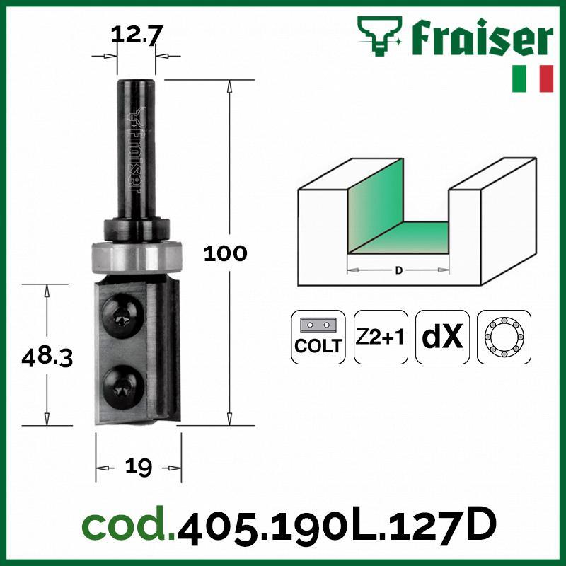 Fresa Fresa Fresa diritta con inserto per RIFILARE Z2 - Frese x legno HW GAMBO 12mm FRAISER 832e1c