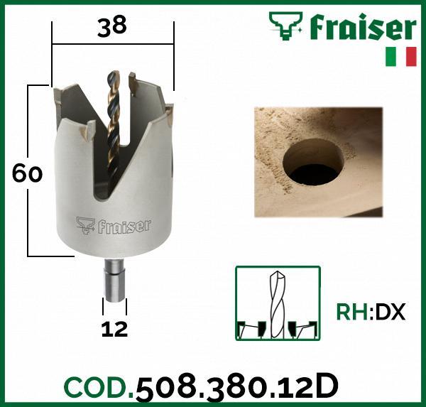 Fresa-punta-SEGA-A-TAZZA-per-set-trapano-HW-Frese-industriale-x-legno-FRAISER miniatura 12