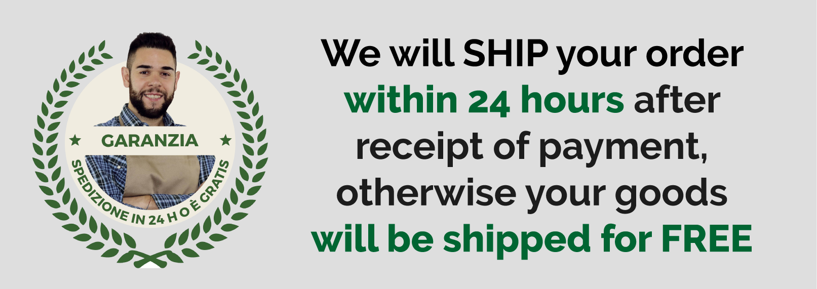 Shipment guarantee